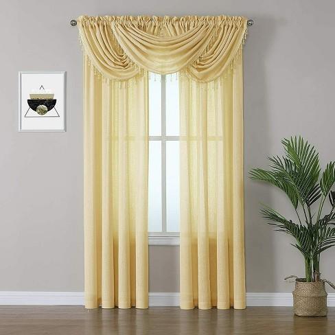 Kate Aurora Living 5 Piece Rod Pocket Sheer Window Curtains & Valances Set - image 1 of 4
