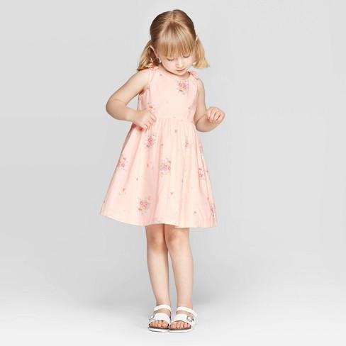 fc31dd104f7545 OshKosh B'gosh Toddler Girls' Floral Bouquet A-Line Dress - Pink : Target