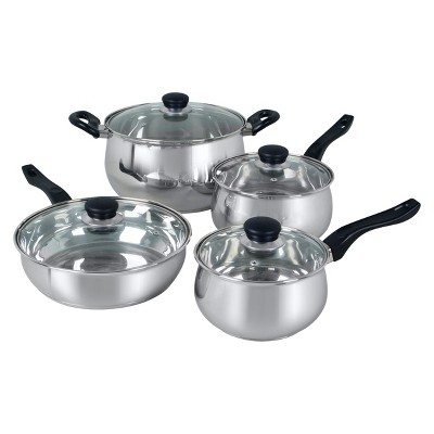 Oster Rametto 8pc Stainless Steel Cookware Set