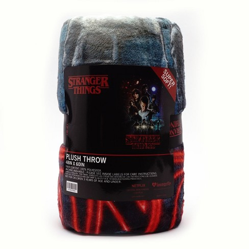 Loungefly Stranger Things Logo Fleece Throw - image 1 of 2