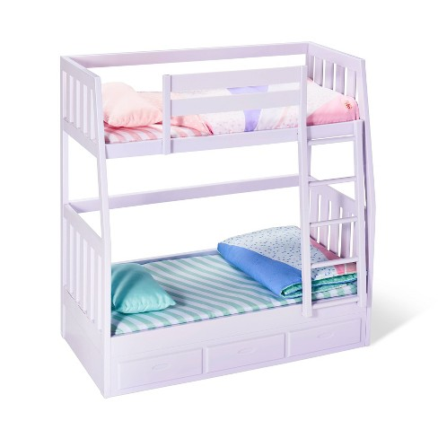 Our Generation Bunk Beds For 18 Dolls Lilac Dream Bunks Target