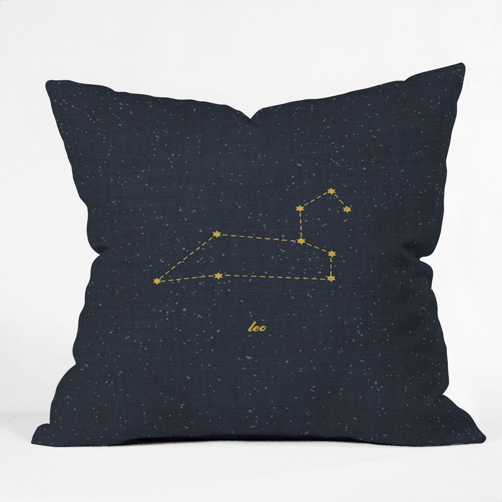 Holli Zollinger Constellation Leo Square Throw Pillow Blue - Deny Designs