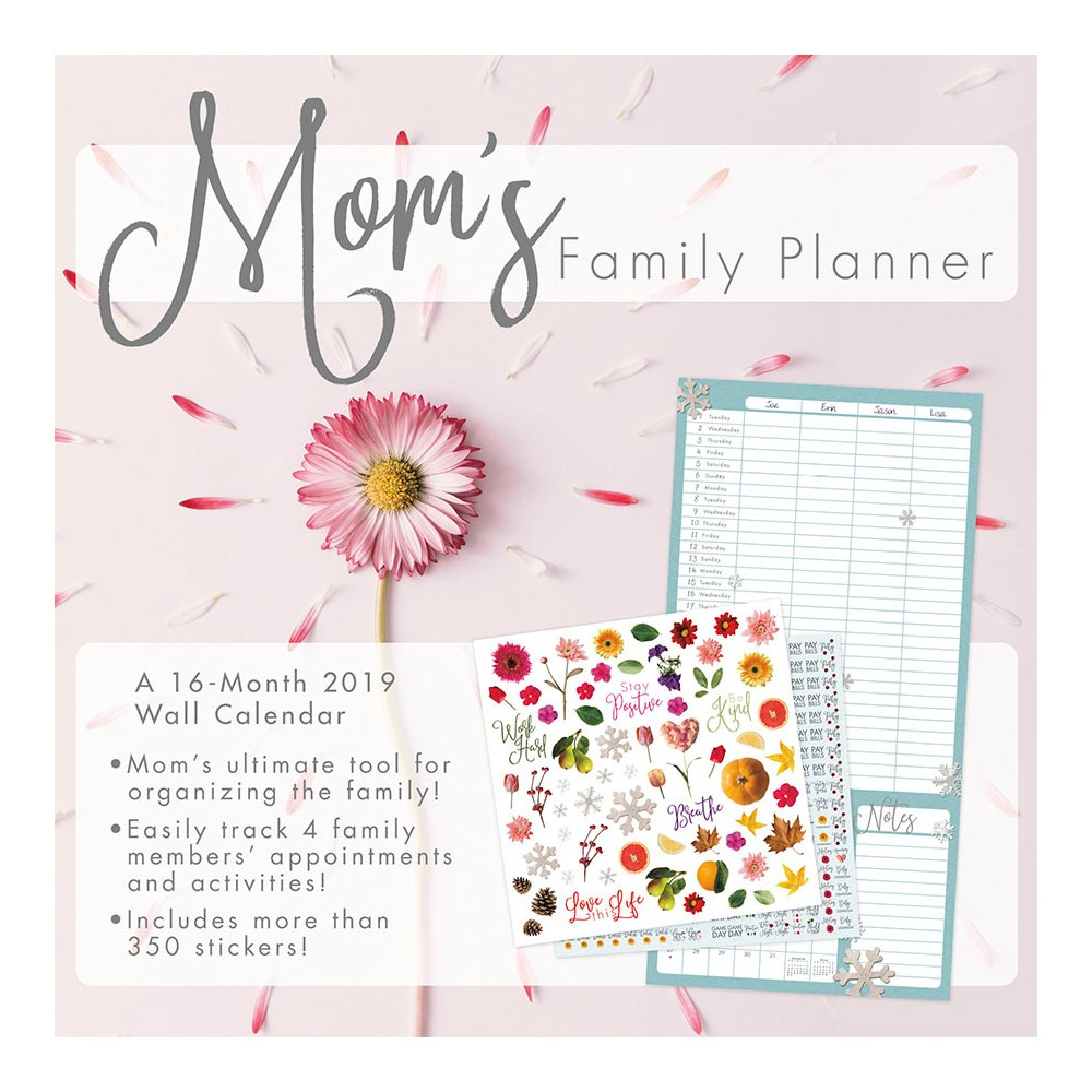 2019 Wall Calendar Mom's Family Planner - Trends International, Multi-Colored