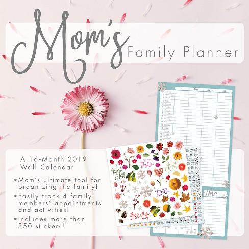 2019 wall calendar mom's family planner - trends international : target
