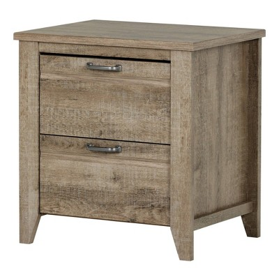 Lionel 2 - Drawer Nightstand - Weathered Oak - South Shore