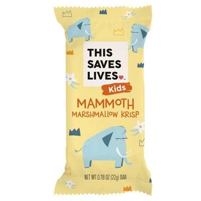 This Saves Lives Mammoth Marshmallow Krispy Treat Bar - 22g