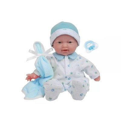 "JC Toys La Baby 11"" Baby Doll - Blue Outfit"