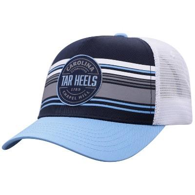 NCAA North Carolina Tar Heels Men's Vista Black with Hard Mesh Snapback Hat