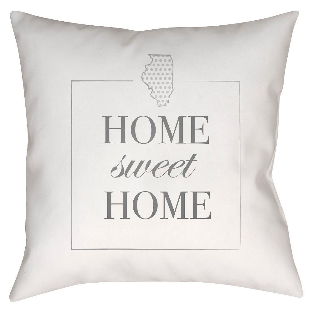 White Housewarming Illinois Throw Pillow 18