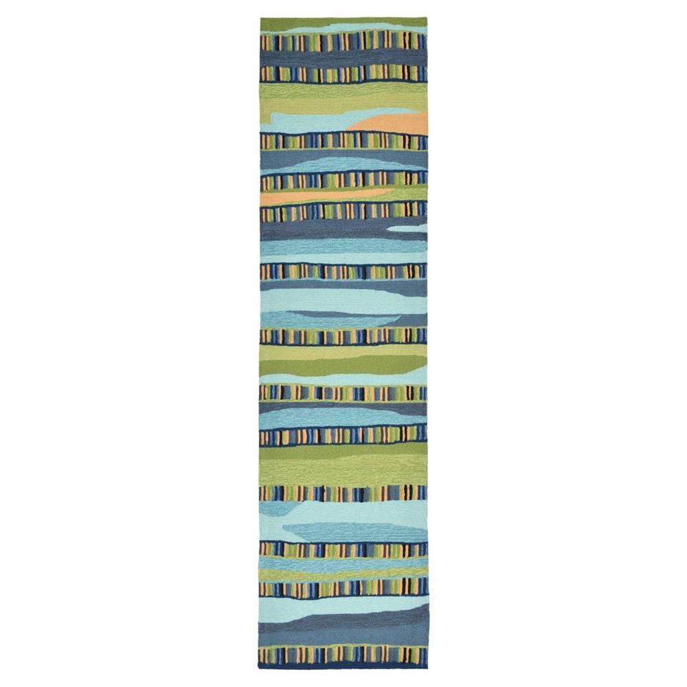 Rugs 2'X8' Runner Liora Manne Blue