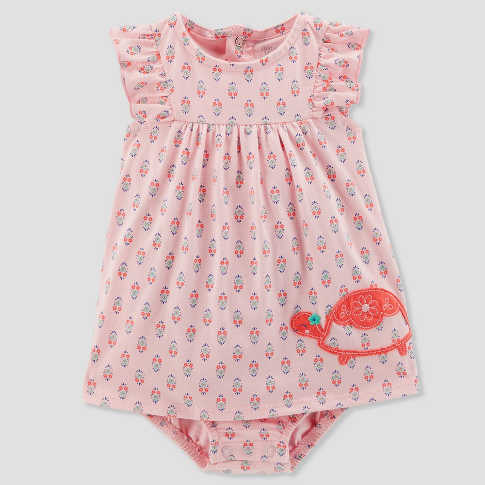 Image of Baby Girls' 1pc Turtle Sundress - Just One You made by carter's Pink Newborn, Girl's