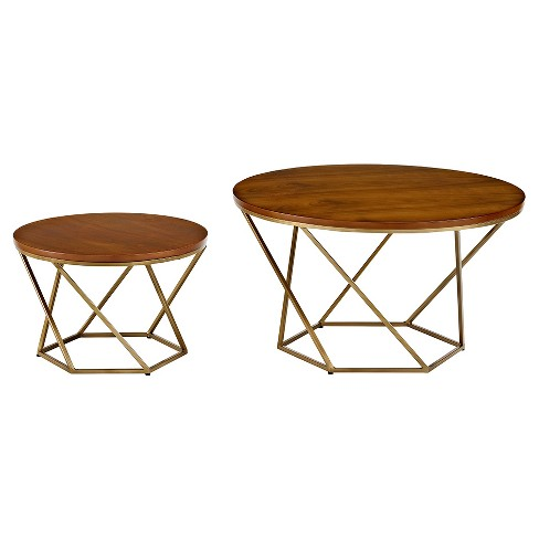 Geometric Wood Nesting Coffee Tables Saracina Home Target