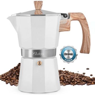 Zulay Kitchen Classic Stovetop Italian Style Espresso Maker Moka Pot