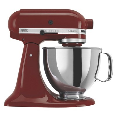 KitchenAid Artisan Series 5 Quart Tilt-Head Stand Mixer- Ksm150, Red Red