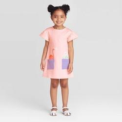 Toddler Girls' Dinosaur Pocket Dress - Cat & Jack™ Pink