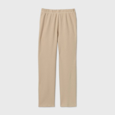 Girls' Adaptive Ponte Pants - Cat & Jack™ Khaki