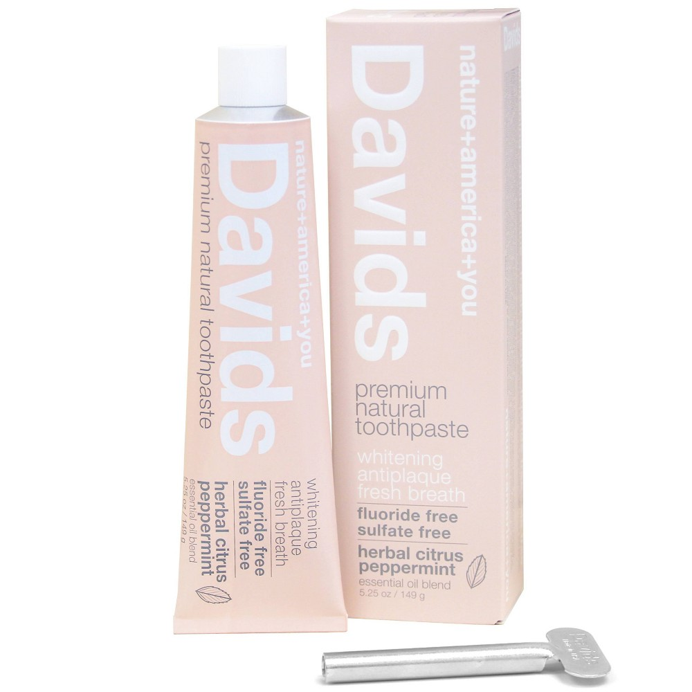 Image of Davids Premium Natural Toothpaste Herbal Citrus Peppermint - 5.25oz