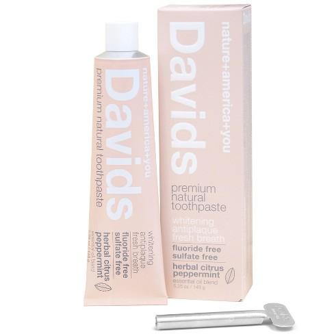 Davids Premium Natural Toothpaste Herbal Citrus Peppermint - 5.25oz - image 1 of 4
