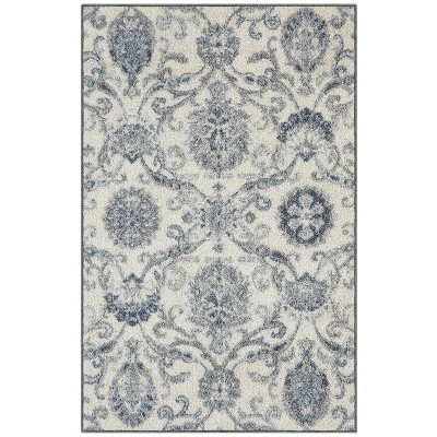 """2'6""""x3'10"""" Olympia Accent Rug Gray/Blue - Maples"""