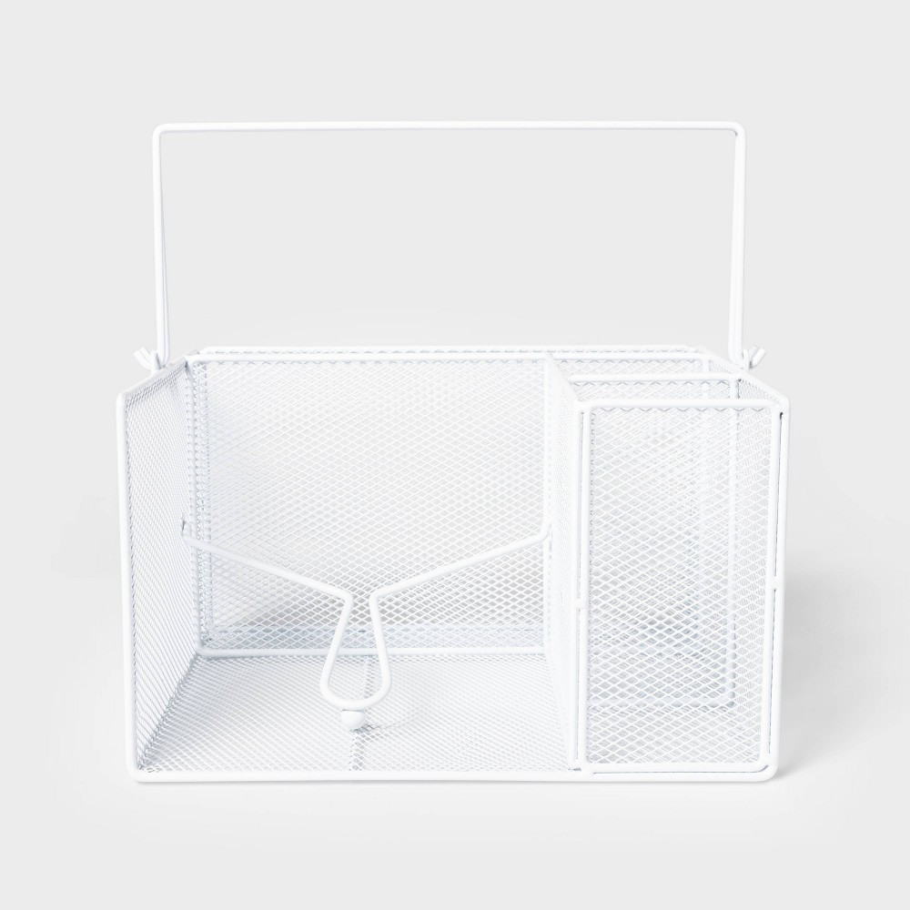 Image of Steel Dinnerware Caddy White - Sun Squad