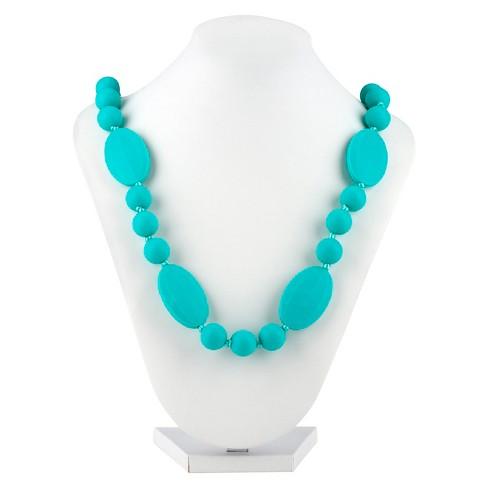 Nuby Silicone Teething Necklace Aqua - image 1 of 4