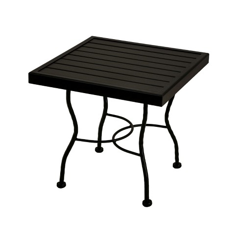 Meadowcraft Powder Coated Wrought Iron Patio End Table Base 24 Inch Top