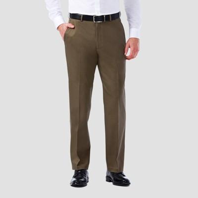 Haggar Men's Premium No Iron Classic Fit Flat Front Casual Pants