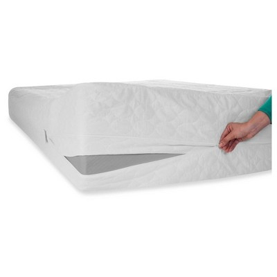 Bed Bug Dust Mite Cotton Mattress Protector (Queen)White - Bluestone®