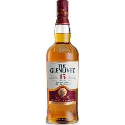 The Glenlivet 15yr Single Malt Scotch Whisky - 750ml Bottle