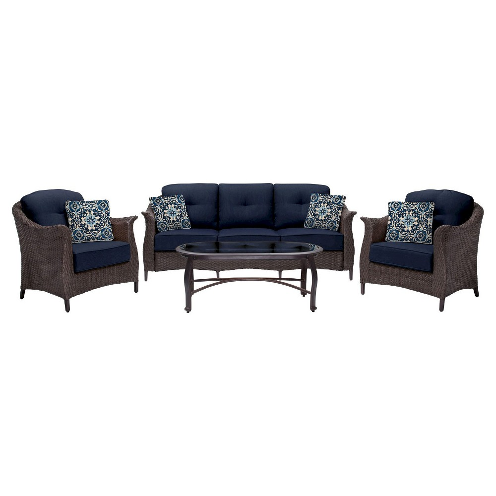 Image of 4pc Patio Seating Set Hanover, Blue