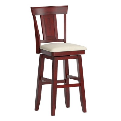 "29"" South Hill Panel Back Wood Swivel Height Barstool - Inspire Q"