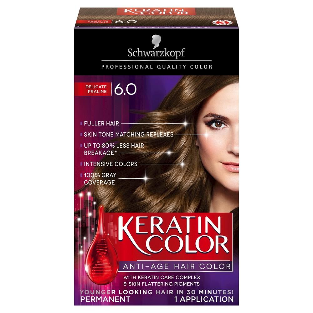 Image of Schwarzkopf Keratin Color Anti-Age Hair Color - 6.0 Delicate Praline - 2.03 fl oz