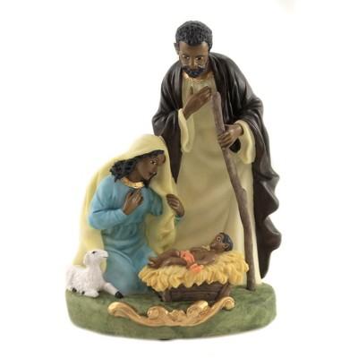 "Black Art 8.0"" Holy Family Mary Joseph Baby Jesus  -  Decorative Figurines"