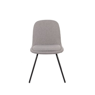 Modern Anywhere Chair with Metal Legs Charcoal Gray - WOVENBYRD