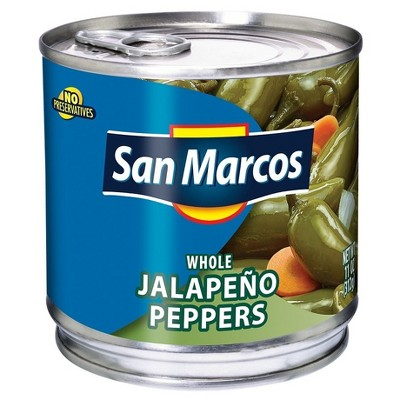 San Marcos Whole Jalapenos - 11oz