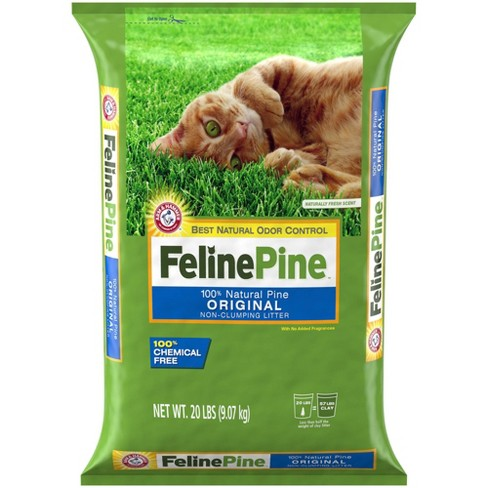 Feline Pine 100% Natural Pine, Odor Control, Non-Clumping Cat Litter - 20lbs - image 1 of 3