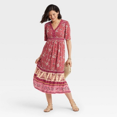 Women's Short Sleeve V-Neck Dress - Knox Rose™