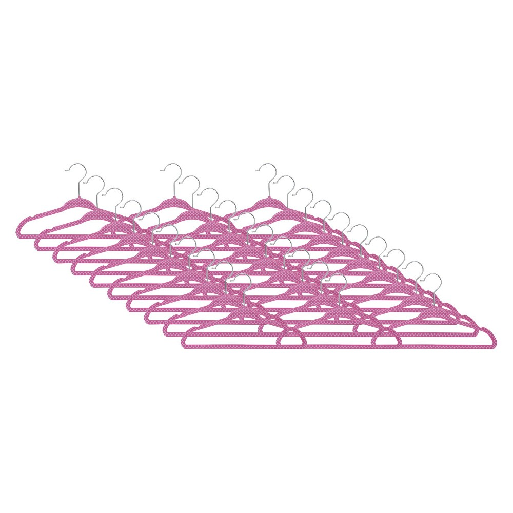 Image of Delta Children Kids Velvet Hangers - Pink 30pk