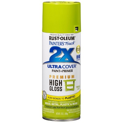 Rust-Oleum 12oz 2X Painter's Touch Ultra Cover High Gloss Spray Paint Light Green