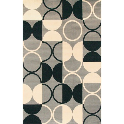 Abacasa Terra Paloma Black-Grey-Ivory 5x8 Area Rug - Sam's International - image 1 of 1