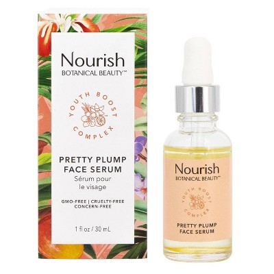 Nourish Organic Botanical Beauty Pretty Plump Face Serum - 1 fl oz
