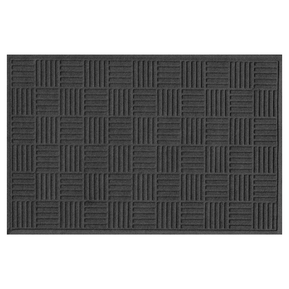 Charcoal Heather Solid Doormat - (3'X5') - Bungalow Flooring