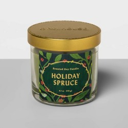 4.1oz Lidded Glass Jar Candle Holiday Spruce - Opalhouse™