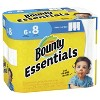 Bounty Essentials Select-A-Size White Paper Towels - 6 Big Rolls - image 3 of 4