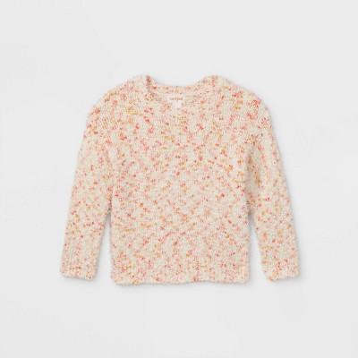 Toddler Girls' Textured Pullover Sweater - Cat & Jack™ Cream
