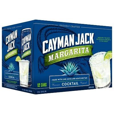 Cayman Jack Margarita Cocktail - 12pk/12 fl oz Slim Cans
