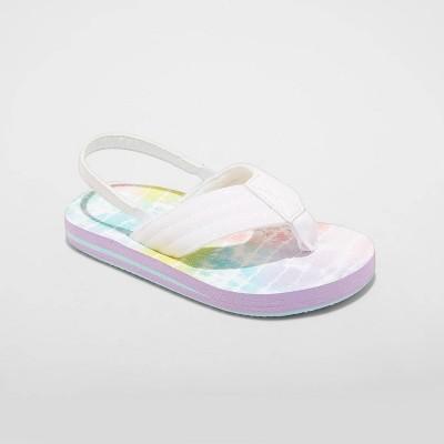 Toddler Ash Flip Flop Sandals - Cat & Jack™ White S