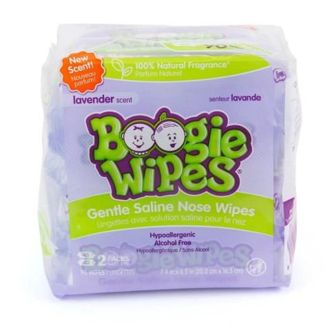 Boogie Wipes Lavender Saline Nose Wipes - 90ct - image 1 of 4
