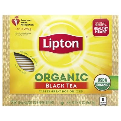 Lipton Black Organic Tea Bags - 72ct