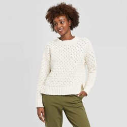 Women's Crewneck Textured Pullover Sweater - A New Day™